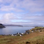 View over Loch Bay from Broad Reach self catering cottage