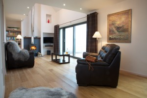 Master lounge Broad Reach luxury self catering cottage Skye