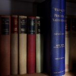 Nautical books, part of the library at Broadreach self catering cottage accommodation Isle of Skye